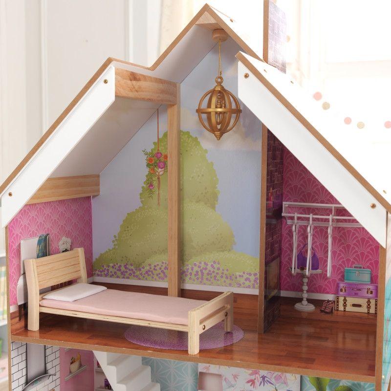 KidKraft дървена къща за кукли Жулиет-детски дървени играчки за момичета(6)-bellamiestore