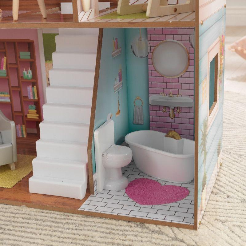 KidKraft дървена къща за кукли Жулиет-детски дървени играчки за момичета(4)-bellamiestore