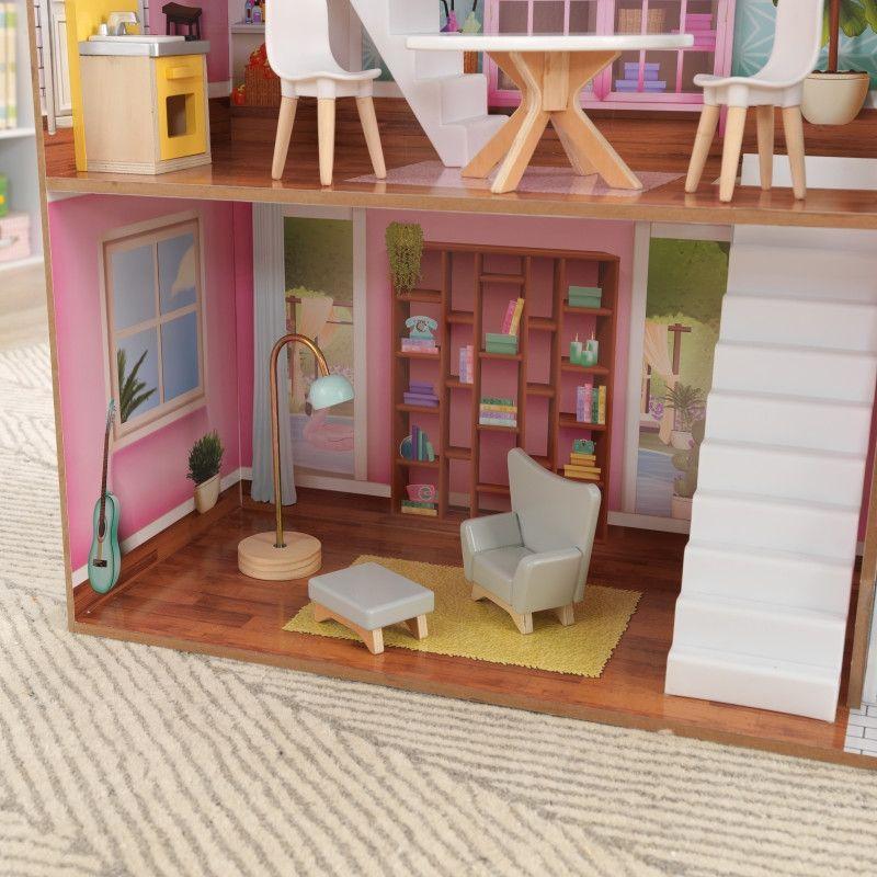 KidKraft дървена къща за кукли Жулиет-детски дървени играчки за момичета(3)-bellamiestore