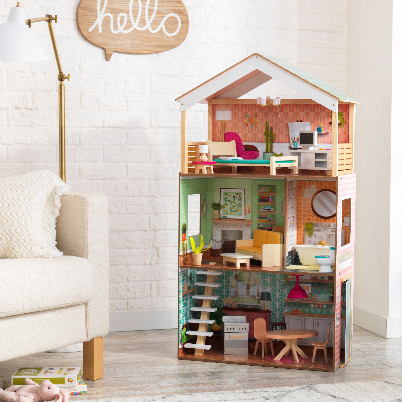 Модерна дървена къща за кукли - Къщата на Доти от Kidkraft - Магазин Беллами