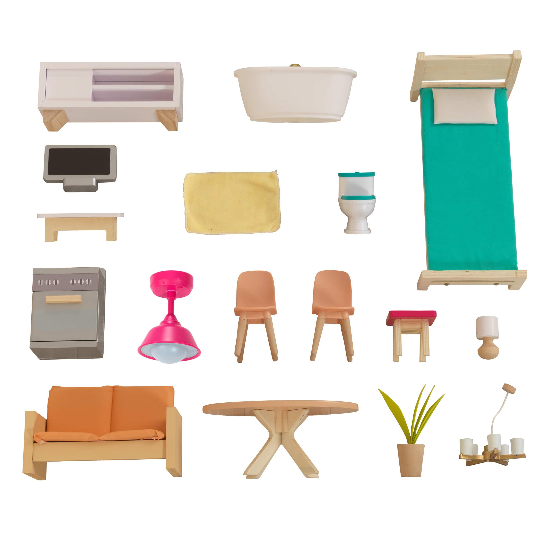 Модерна дървена къща за кукли – Къщата на Доти от Kidkraft