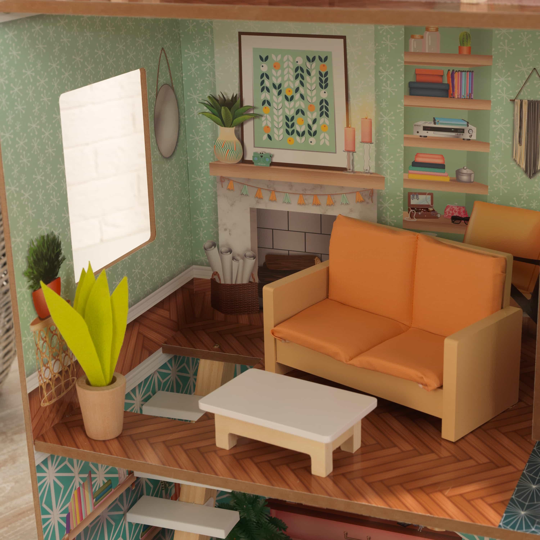 Модерна дървена къща за кукли - Къщата на Доти от Kidkraft - Магазин Bellamie