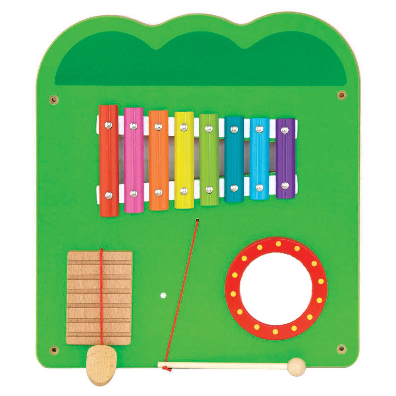 Дървена играчка за стена голяма - Крокодил-подходяща за детски градини и ясли от Viga toys(4)-bellamiestore