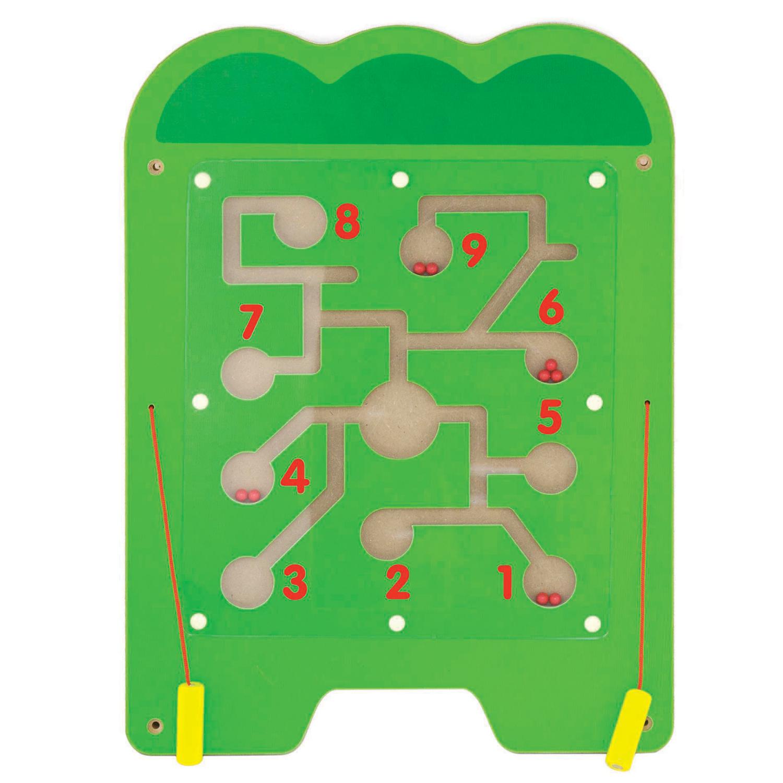 Дървена играчка за стена голяма - Крокодил-подходяща за детски градини и ясли от Viga toys(5)-bellamiestore
