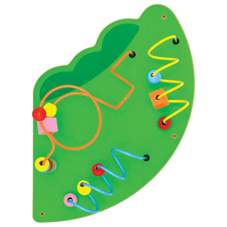Дървена играчка за стена голяма - Крокодил-подходяща за детски градини и ясли от Viga toys(6)-bellamiestore