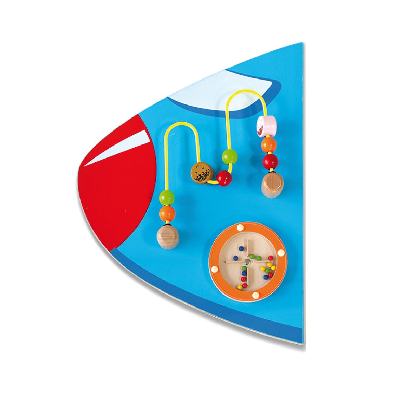 Дървена играчка за стена - Самолет от Viga toys- подходяща за детски градини и ясли-bellamiestore