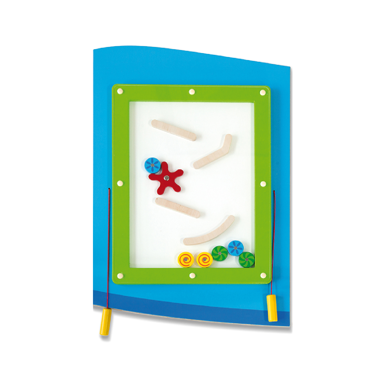 Дървена играчка за стена - Самолет от Viga toys- подходяща за детски градини и ясли(1)-bellamiestore