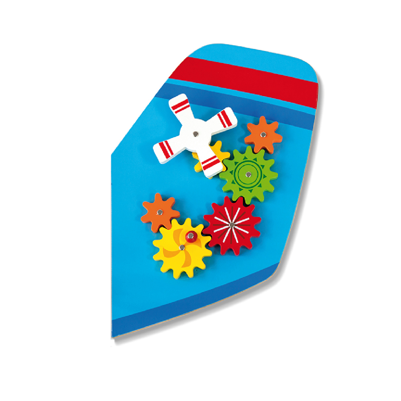 Дървена играчка за стена - Самолет от Viga toys- подходяща за детски градини и ясли(4)-bellamiestore