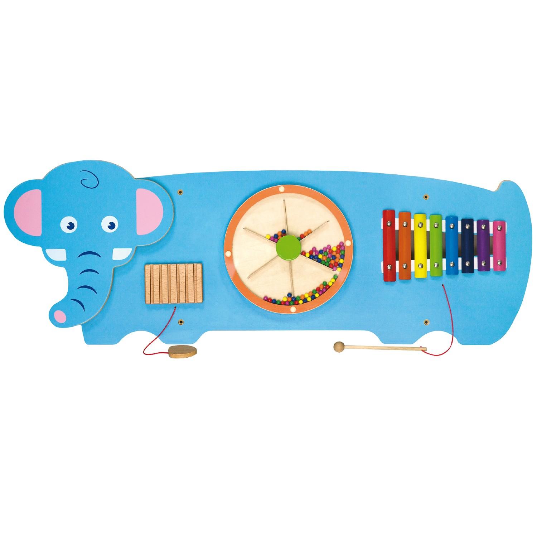 Дървена образователна играчка за стена - Слон- подходяща за детски градини и ясли от Viga toys(1)-bellamiestore