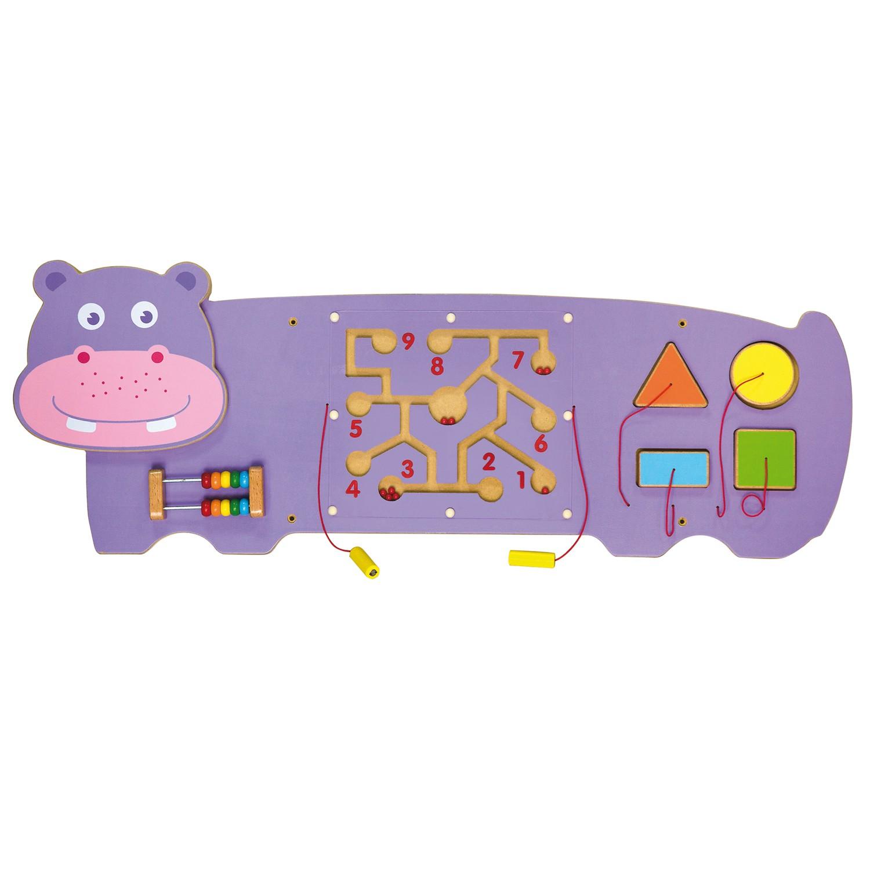 Дървена образователна играчка за стена - Хипопотам- подходяща за детски градини и ясли от Viga toys(1)-bellamiestore