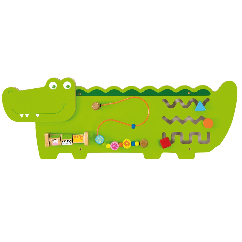 Дървена образователна играчка за стена - Крокодил- подходяща за детски градини и ясли от Viga toys-bellamiestore