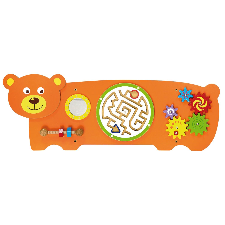 Дървена образователна играчка за стена - Мече - подходяща за детски градини и ясли от Viga toys(1)-Bellamiestore