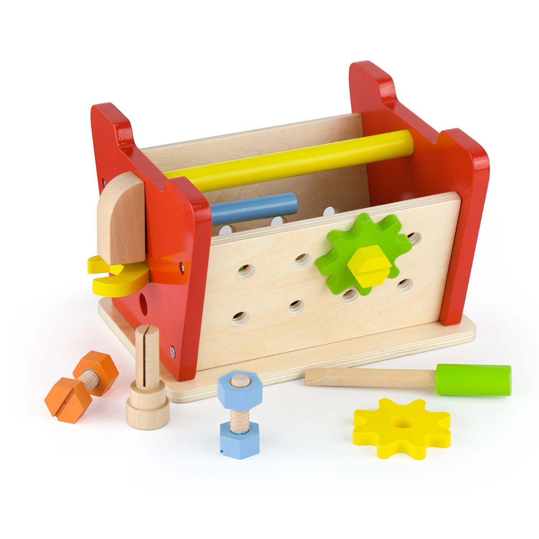 Детска дървена работилница - куфар с инструменти от Viga toys(1)-bellamiestore