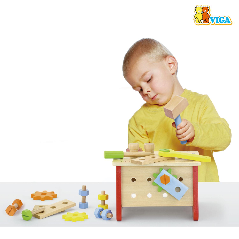 Детска дървена работилница - куфар с инструменти от Viga toys(2)-bellamiestore
