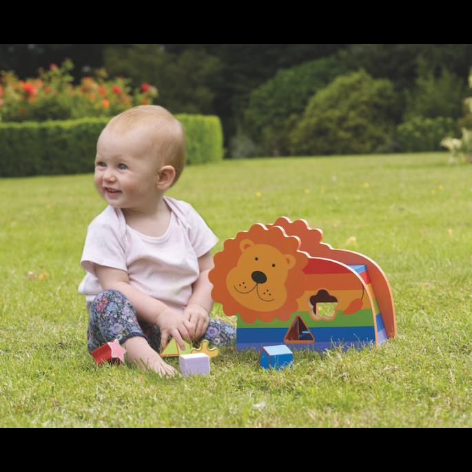 Детски дървен сортер - Лъвче от Orange Tree Toys - дървена играчка