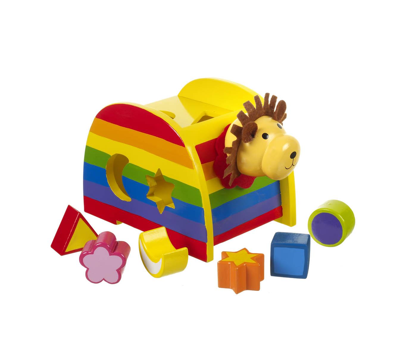 Детски дървен сортер - Лъвче от Orange Tree Toys - дървена играчка - Bellamie