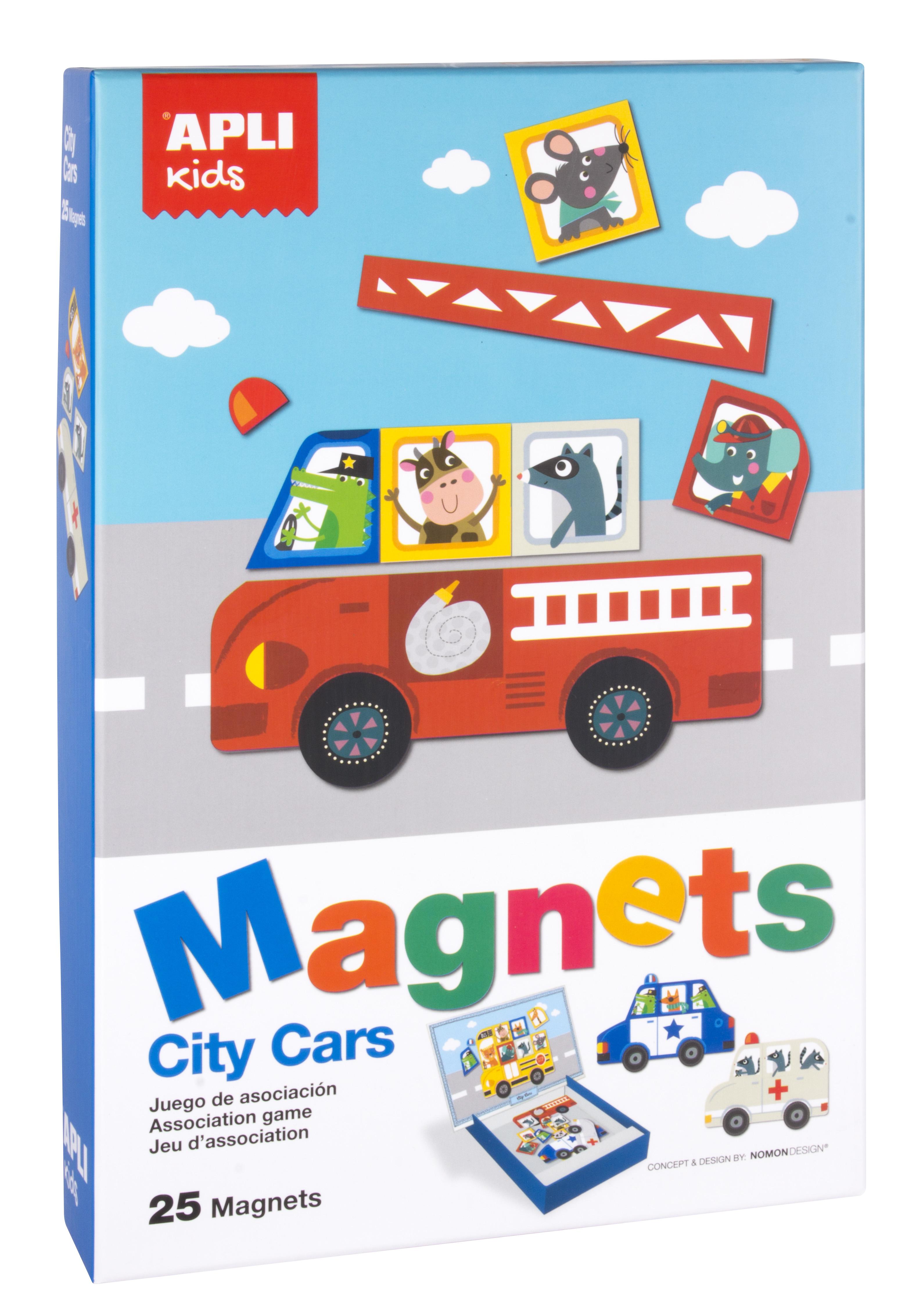 Автомобилите в града - образователна игра с магнити от Apli Kids - образователни играчки-bellamiestore