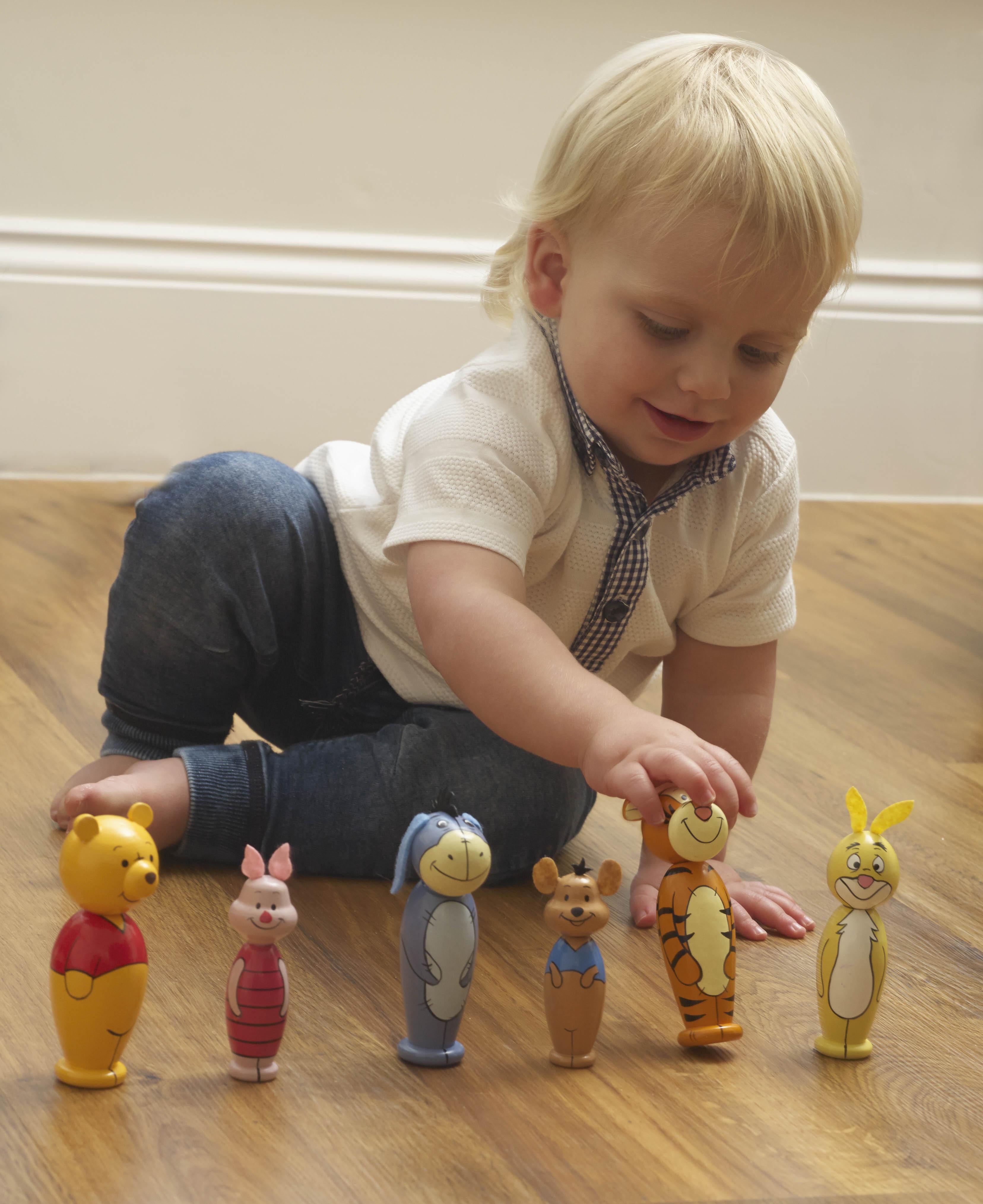 Дървен мини боулинг – Мечо Пух Disney от Orange Tree Toys -дървена играчка