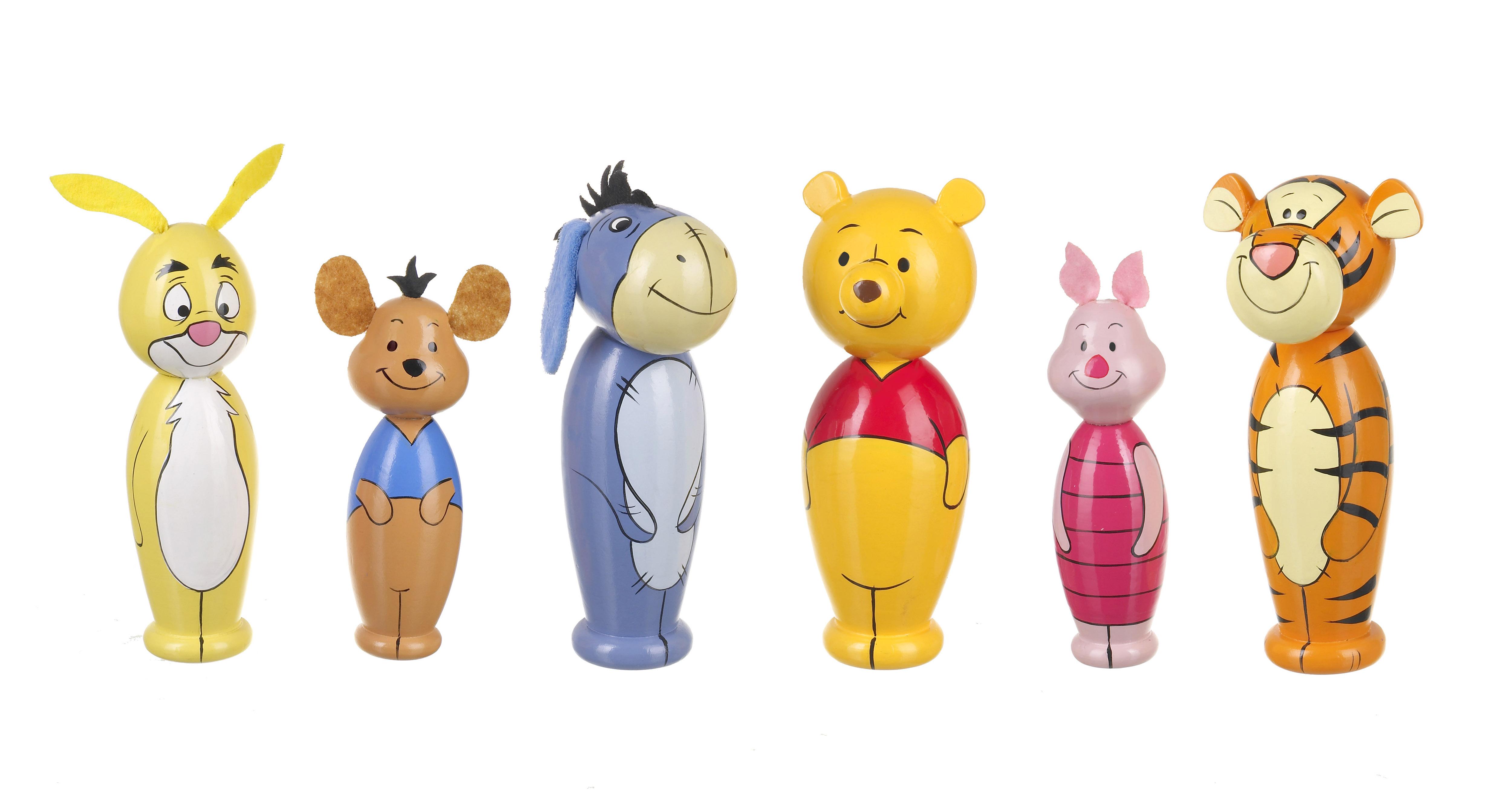 Дървен мини боулинг - Мечо Пух Disney от Orange Tree Toys - Беллами
