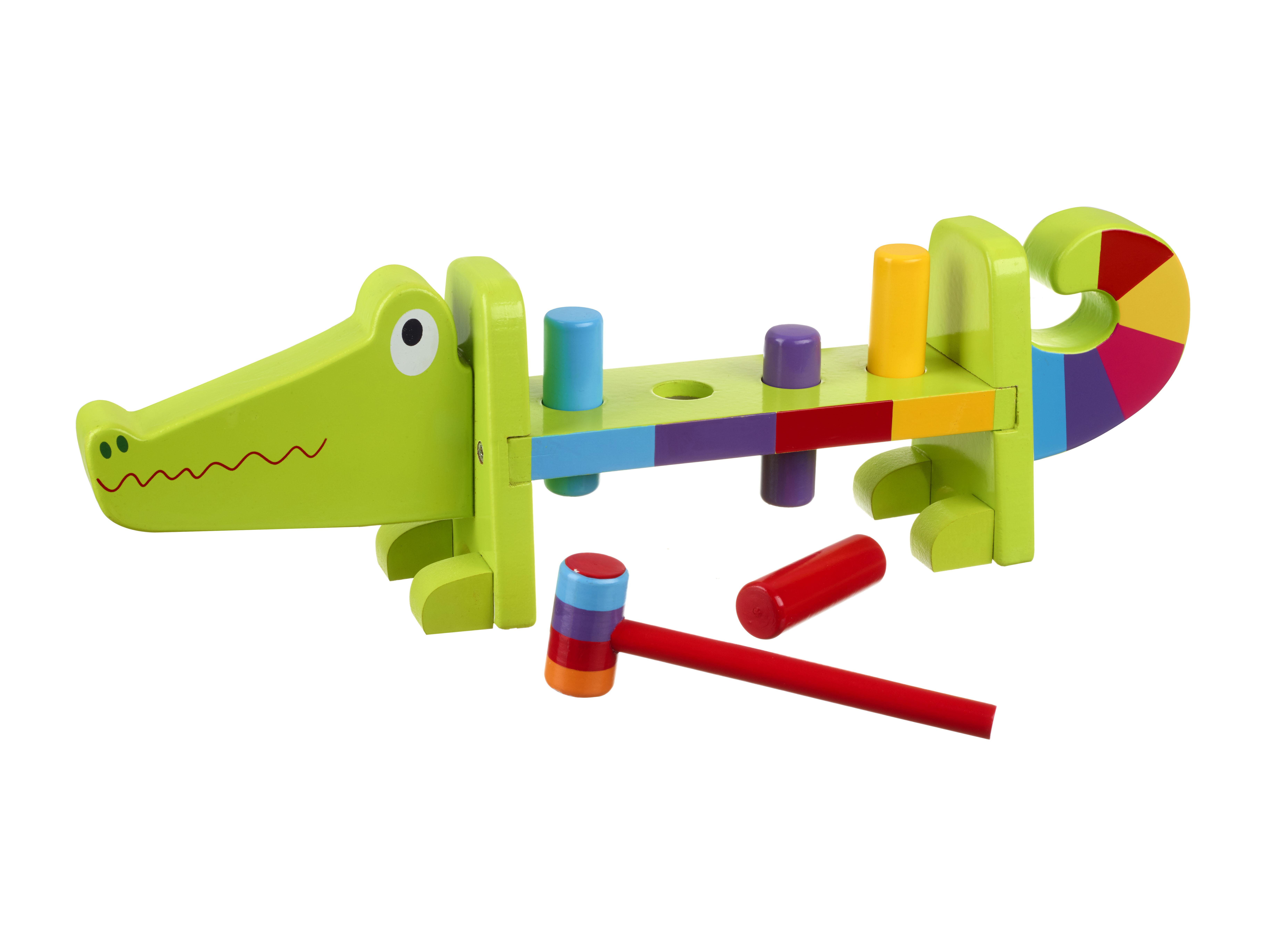 Дървена играчка с чукче - Крокодил от Orange Tree Toys - бебешка играчка - Bellamie store