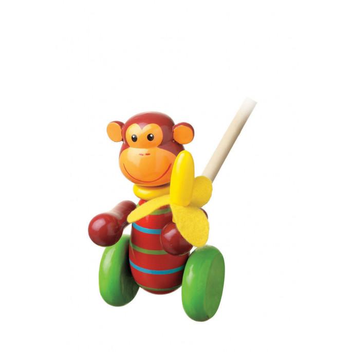 Дървена играчка за бутане Маймунка от Orange Tree Toys-bellamiestore