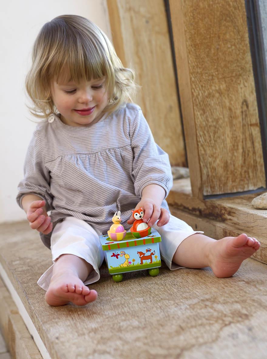 Дървена музикална кутийка - горска приказка - Orange Tree Toys - дървена играчка - Bellamie