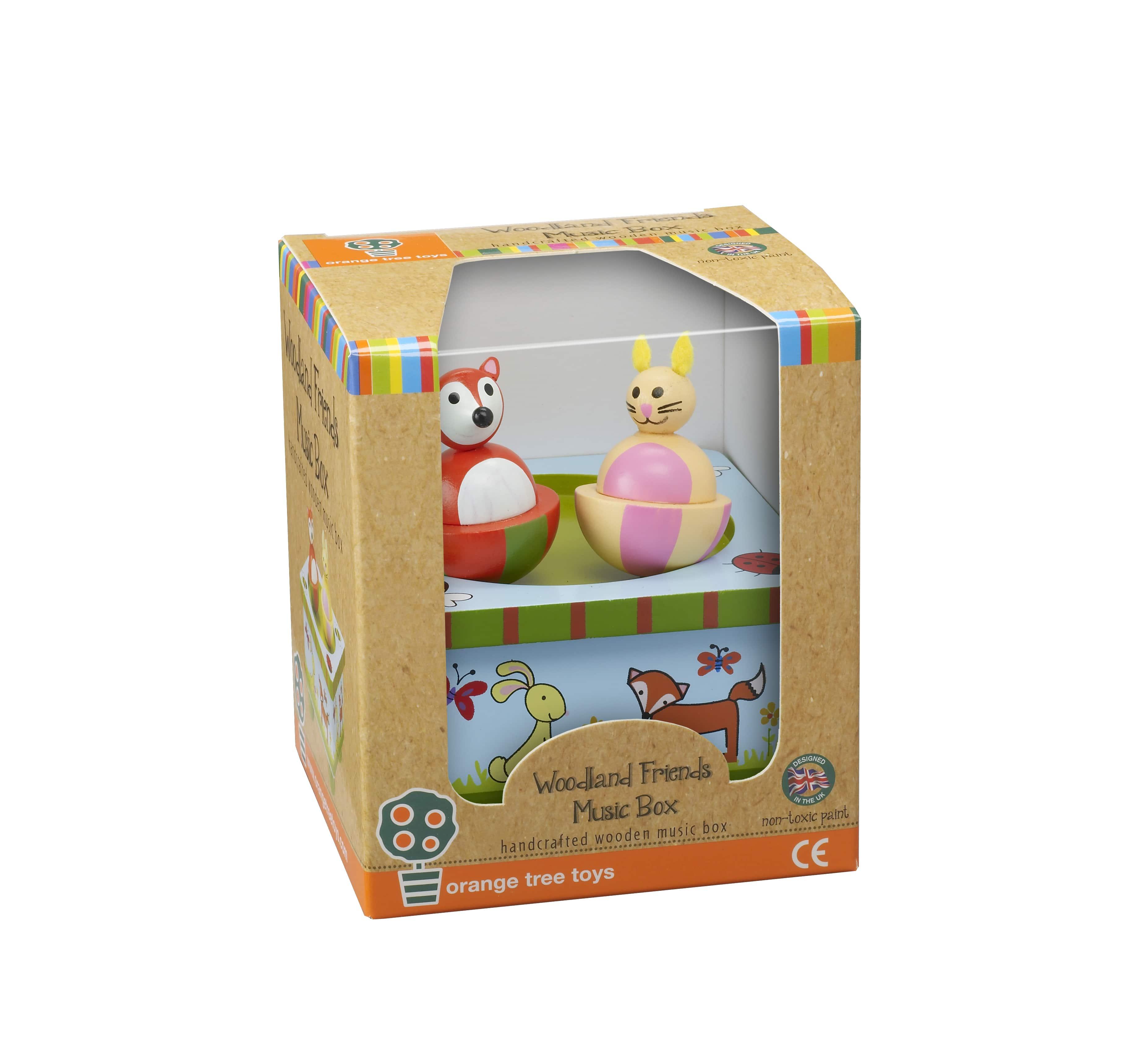 Дървена музикална кутийка - горска приказка - Orange Tree Toys - дървена играчка - Bellamiestore