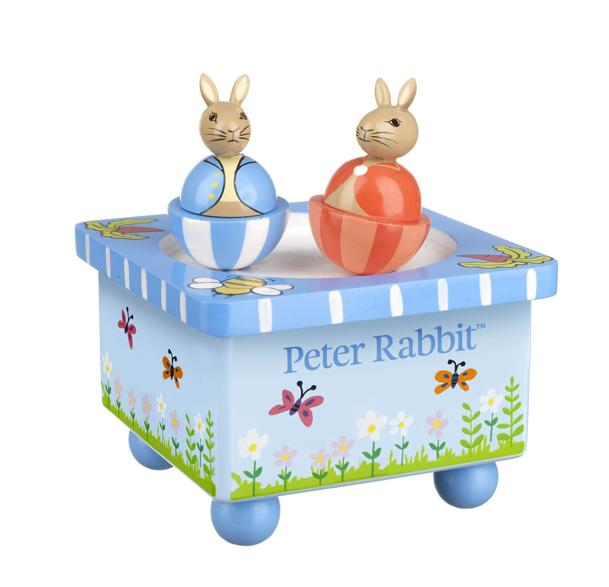 Дървена музикална въртележка - Зайчето Питър от Orange Tree Toys - бебешка играчка - Bellamie