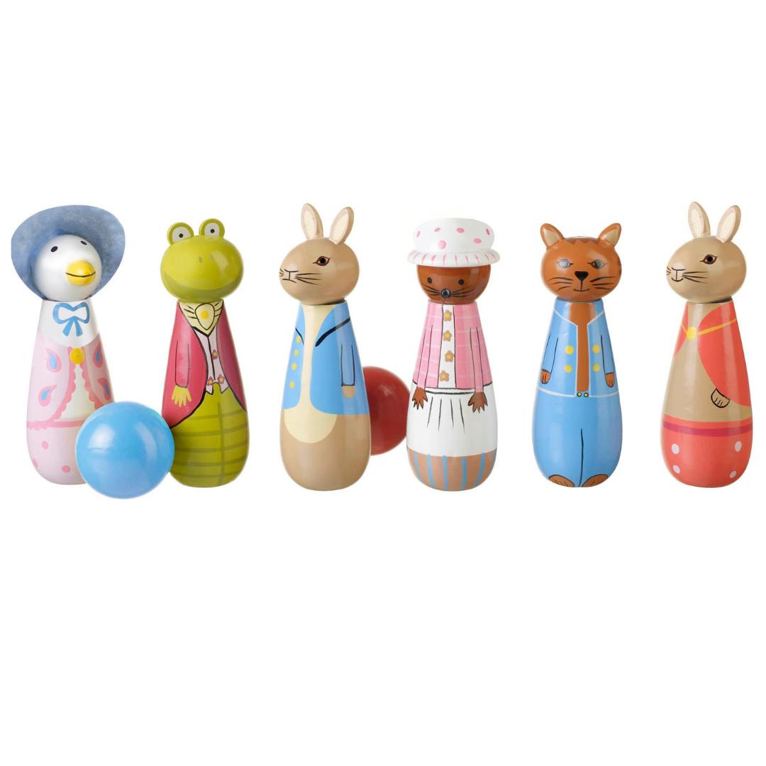 Детски дървен боулинг -Зайчето Питър - Orange Tree Toys - дървени играчки(11)-bellamiestore