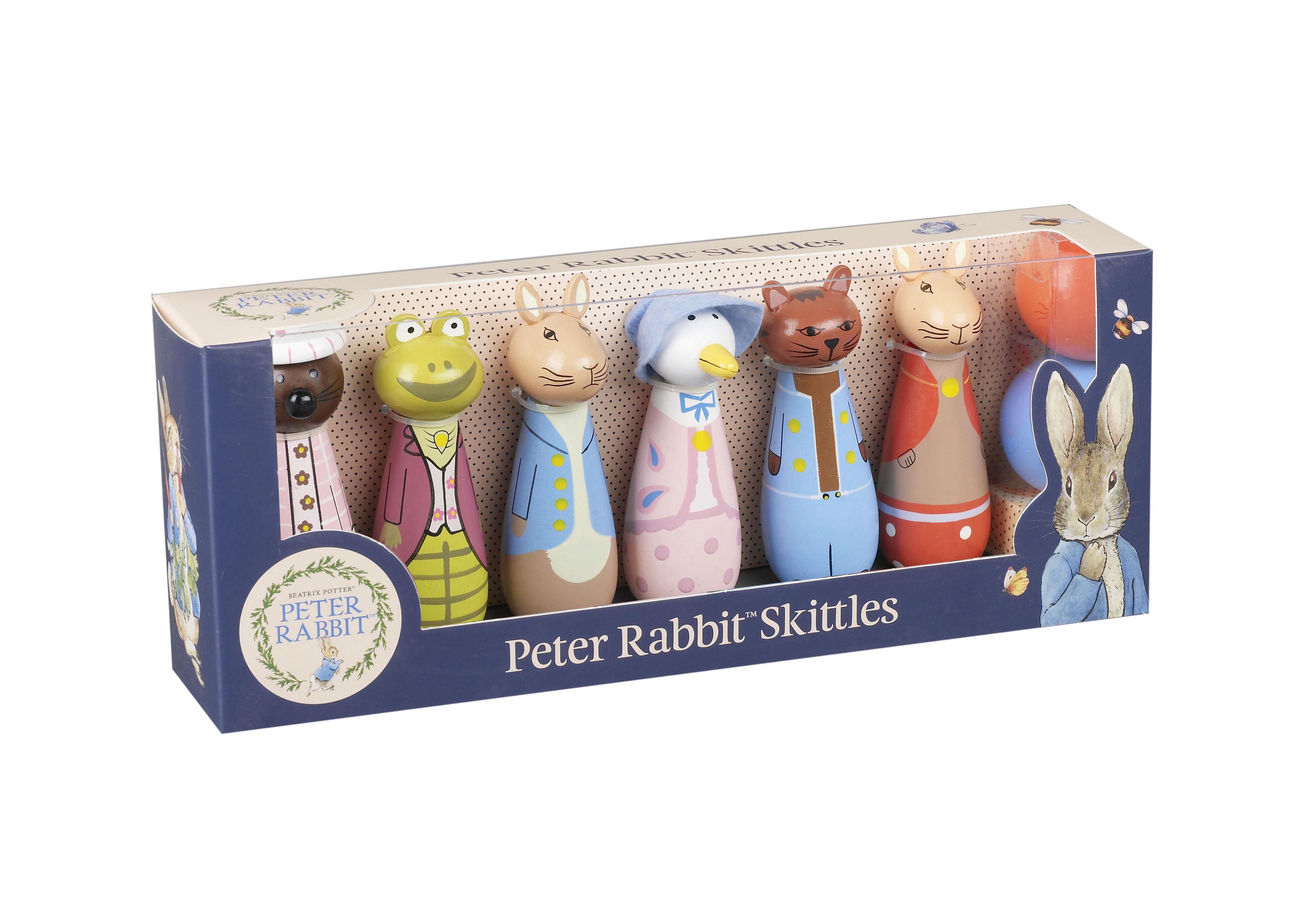 Детски дървен боулинг -Зайчето Питър - Orange Tree Toys - дървени играчки - bellamie