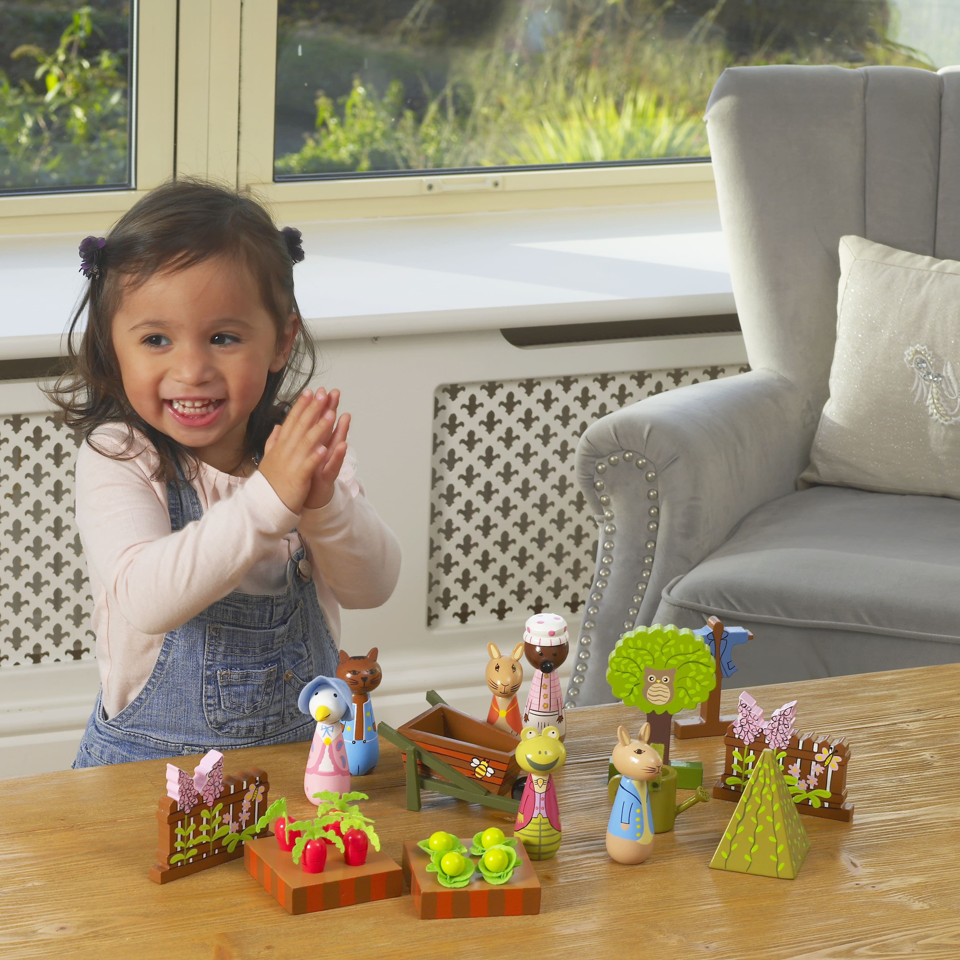 Детски дървен комплект за игра - градината на г-н Макгрегъри от Orange Tree Toys - дървени играчки - Bellamie