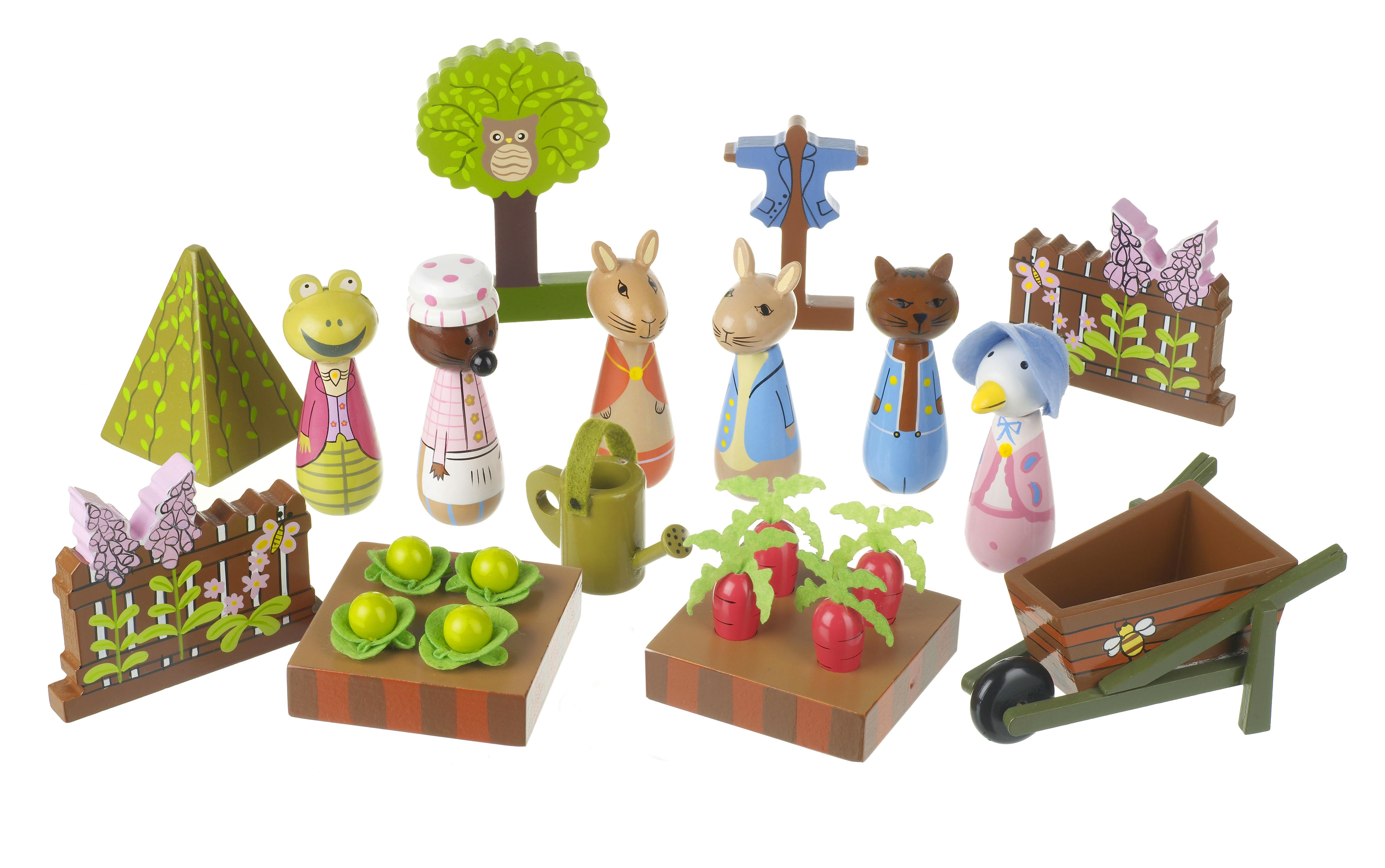 Детски дървен комплект за игра - градината на г-н Макгрегъри от Orange Tree Toys - дървена играчка - Беллами