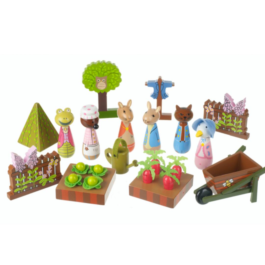 Детски дървен комплект за игра - градината на г-н Макгрегъри от Orange Tree Toys (6)-bellamiestore