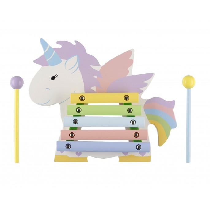 Детски дървен ксилофон - Еднорог от Orange Tree Toys - дървени играчки - Bellamie Store