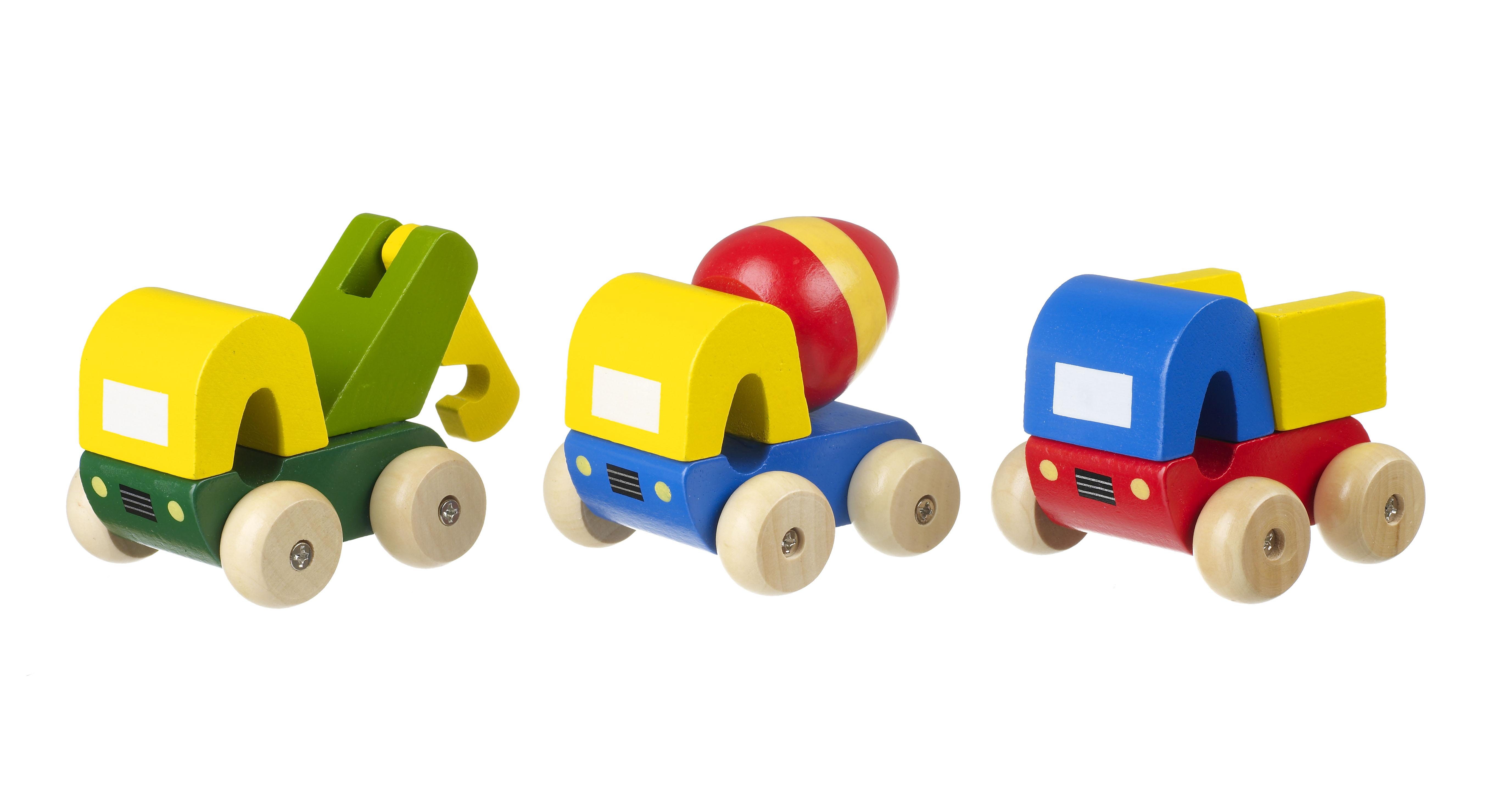 Детски дървени камиончета - строителни машини от Orange Tree Toys - Bellamie store