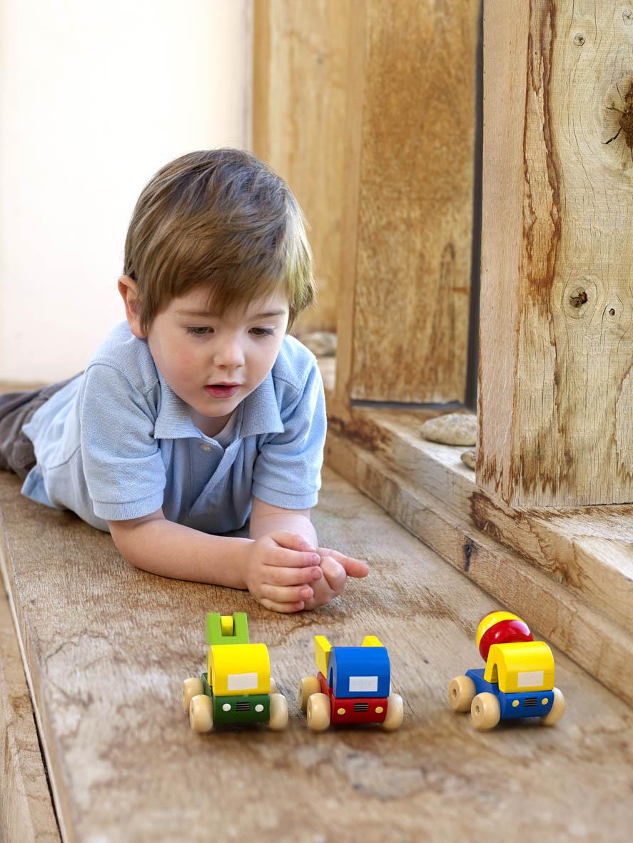 Детски дървени камиончета - строителни машини от Orange Tree Toys - дървена играчка - Bellamie store