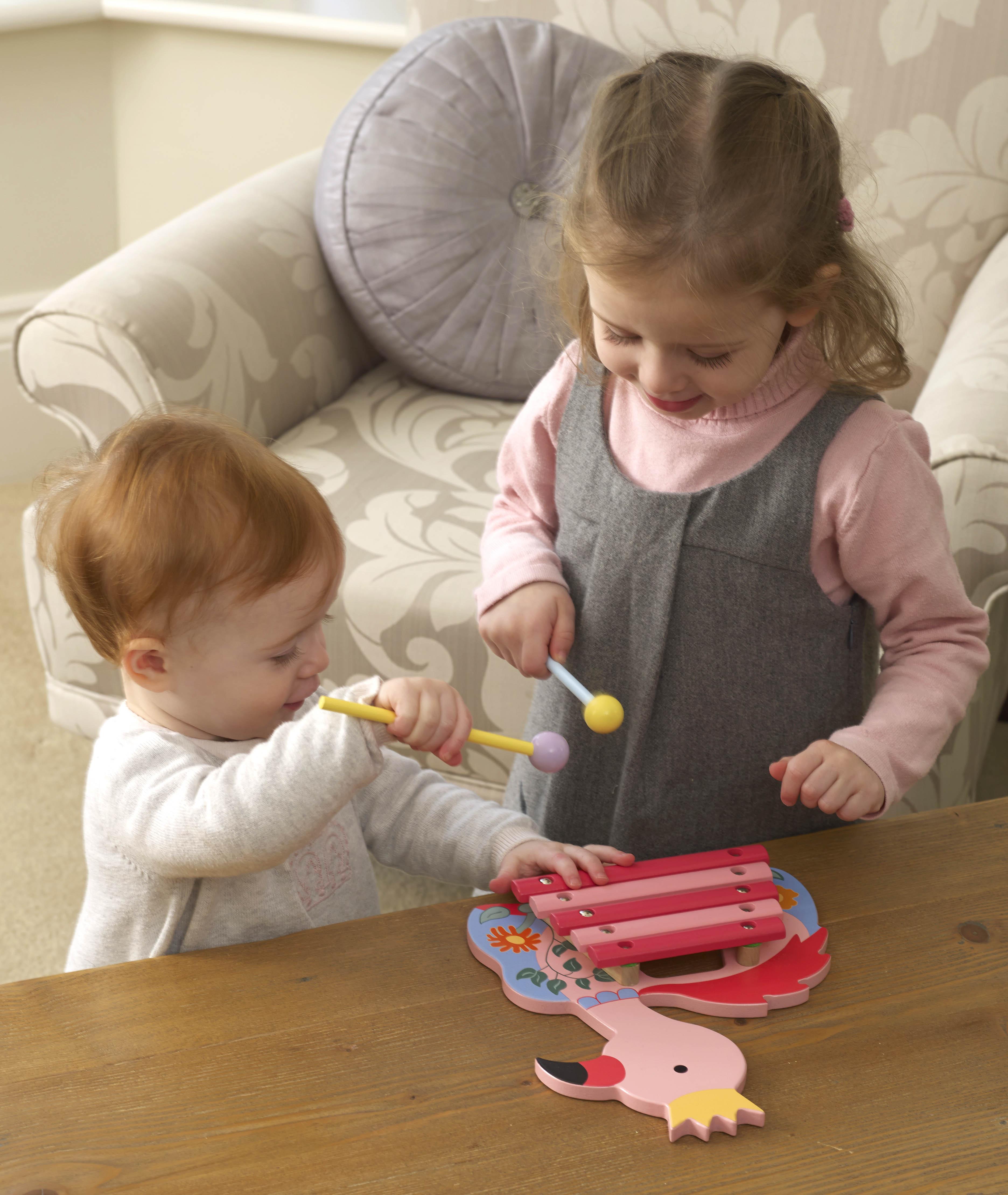 Детски ксилофон - Фламинго от Orange Tree Toys - Беллами стор