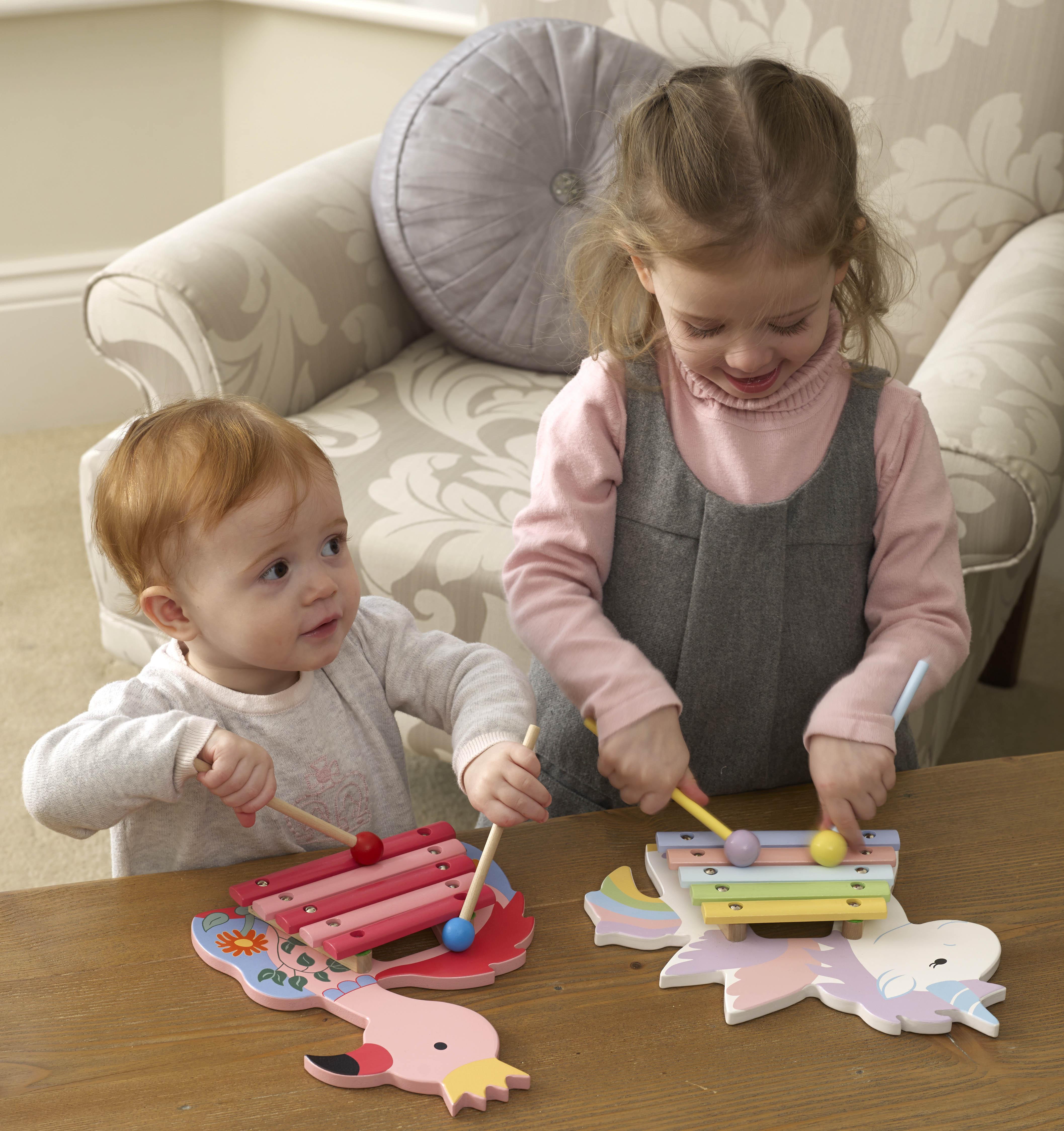 Детски ксилофон – Фламинго от Orange Tree Toys – дървена играчка