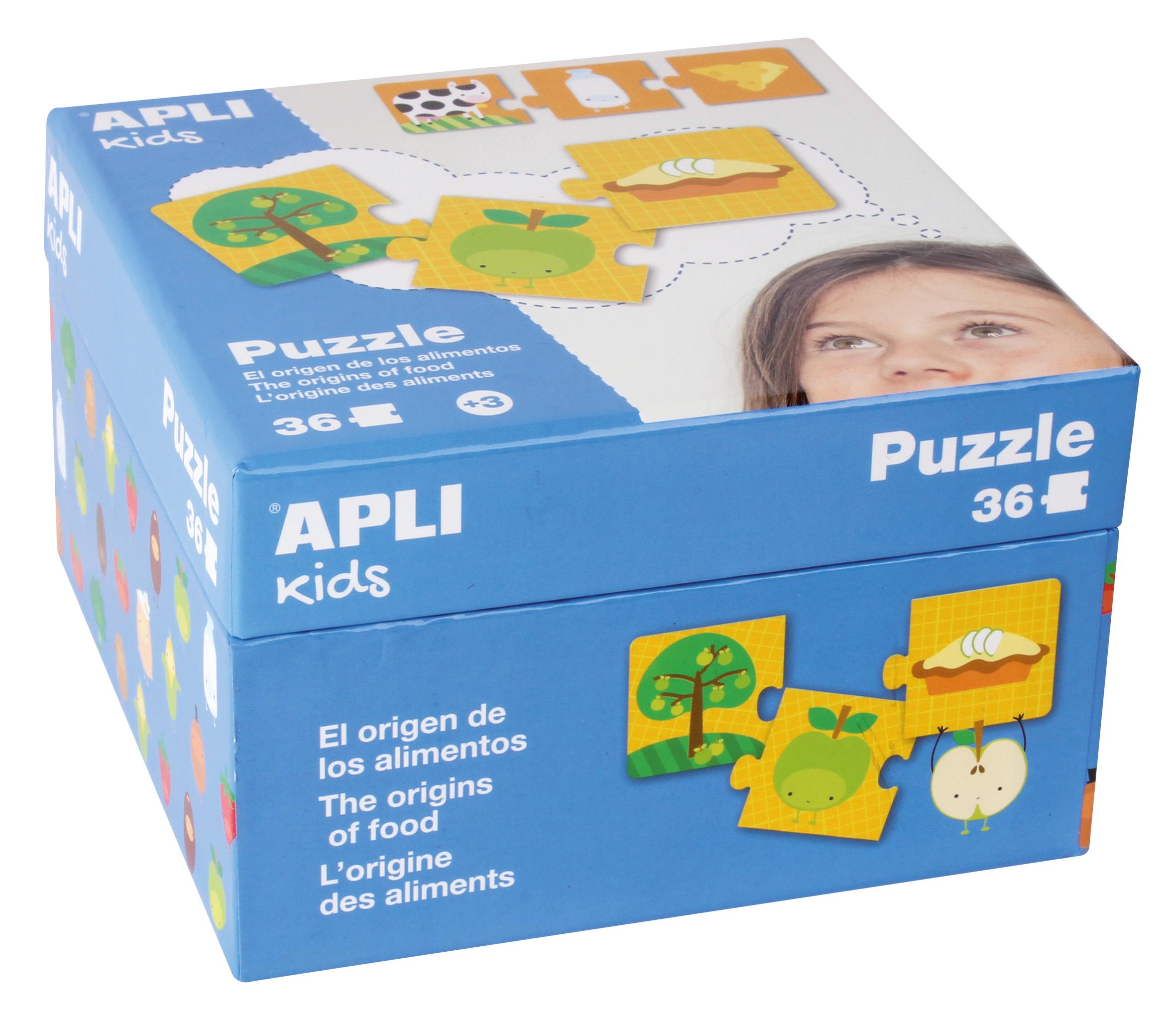 Детски образователен пъзел - Произход на храната от Apli kids-bellamiestore