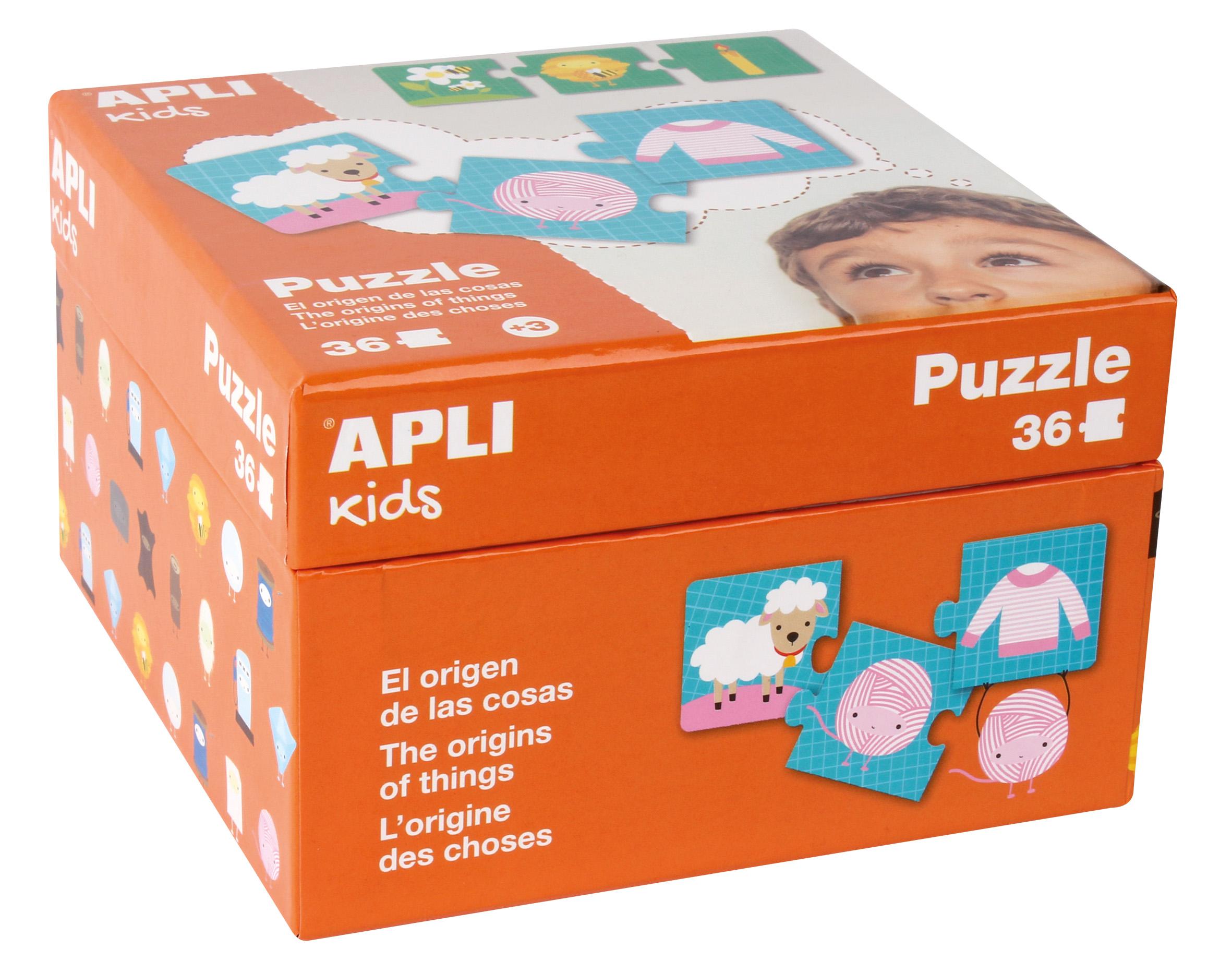 Детски образователен пъзел - Произход на нещата от Apli Kids (1)-bellamiestore