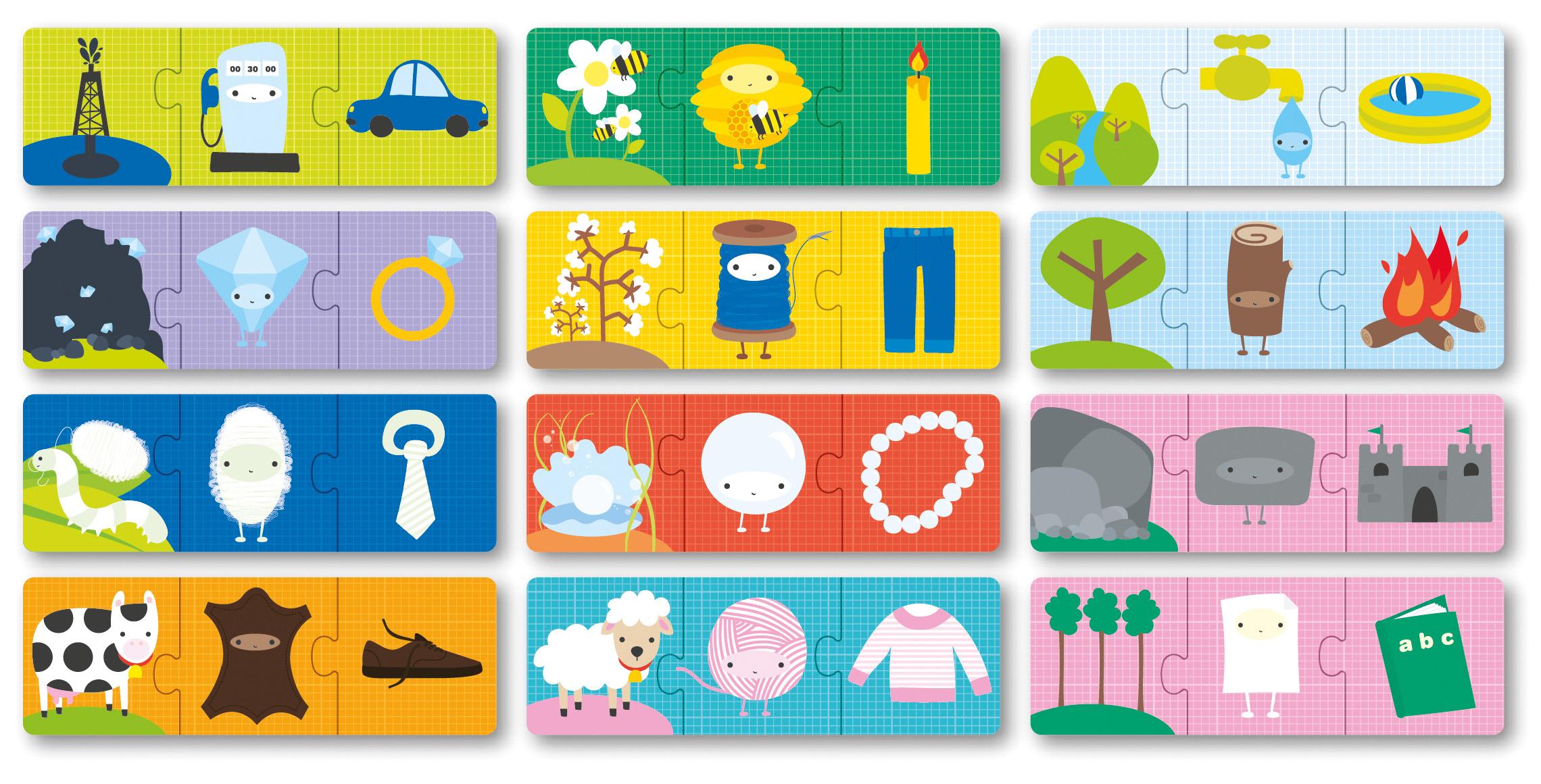 Детски образователен пъзел - Произход на нещата от Apli Kids -bellamiestore
