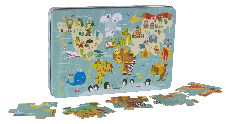 Детски образователен пъзел - Карта на света от Apli Kids (1)-bellamiestore