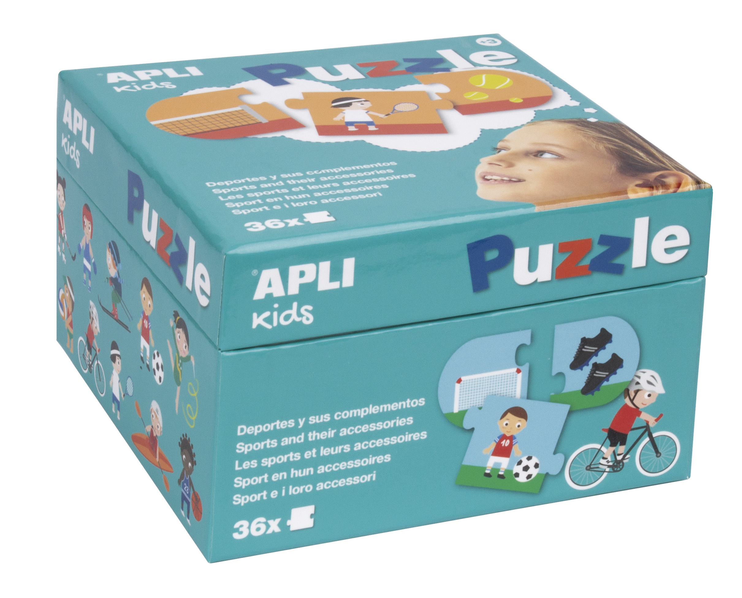 Детски пъзел - света на спорта от Apli kids-bellamiestore