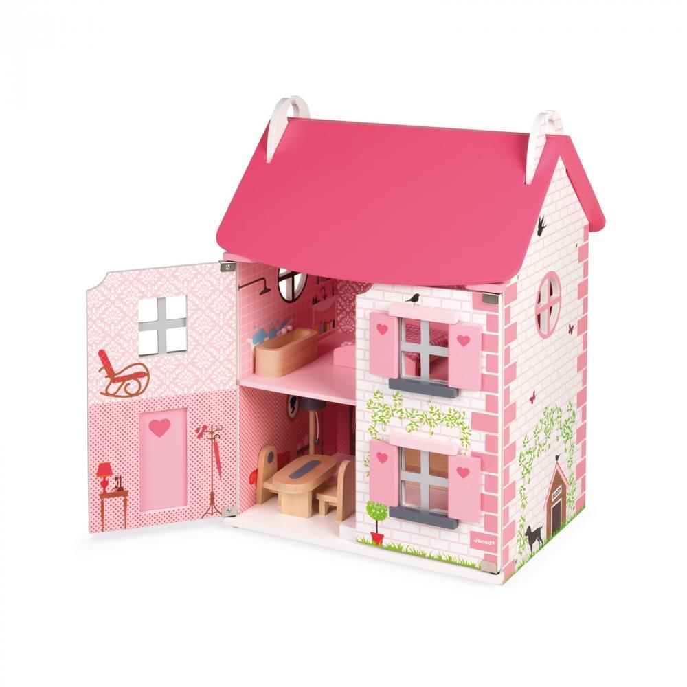 Дървена къща за кукли - Роза от Janod - дървена играчка(4)-bellamiestore