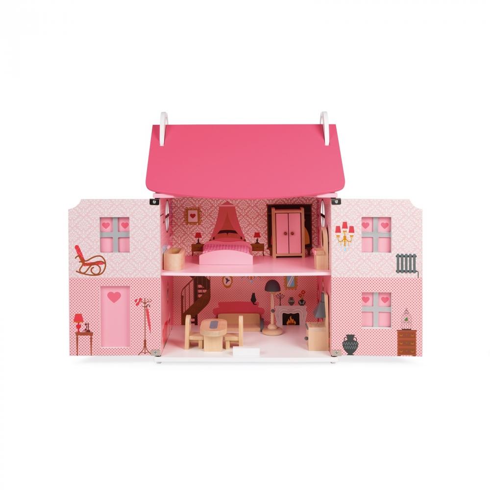 Дървена къща за кукли - Роза от Janod - дървена играчка(3)-bellamiestore
