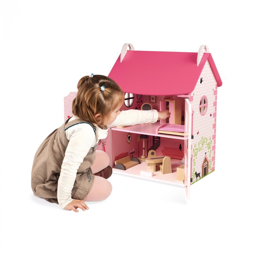 Дървена къща за кукли - Роза от Janod - дървена играчка(2)-bellamiestore