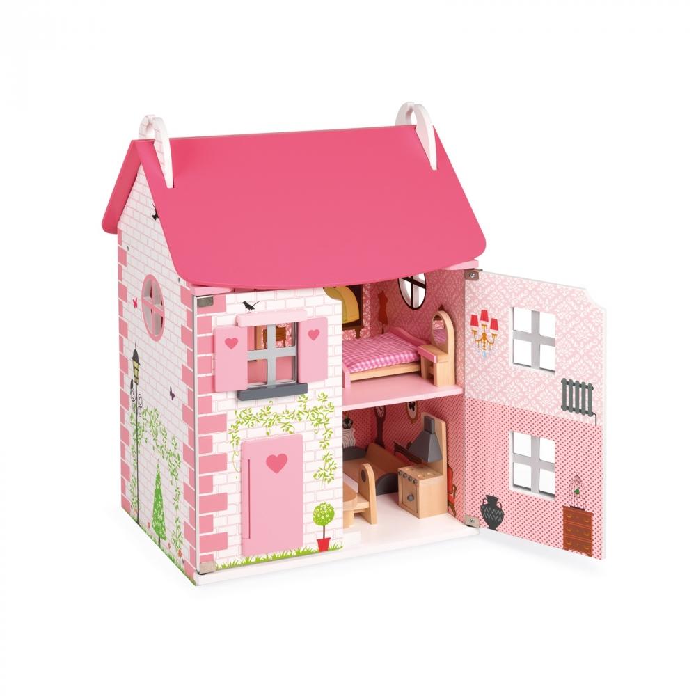 Дървена къща за кукли - Роза от Janod - дървена играчка(1)-bellamiestore
