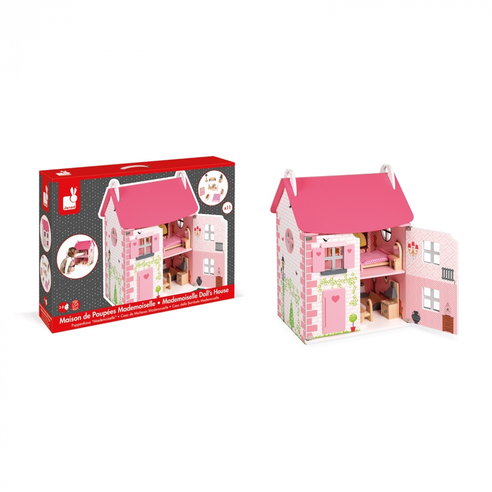 Дървена къща за кукли - Роза от Janod - дървена играчка - bellamiestore