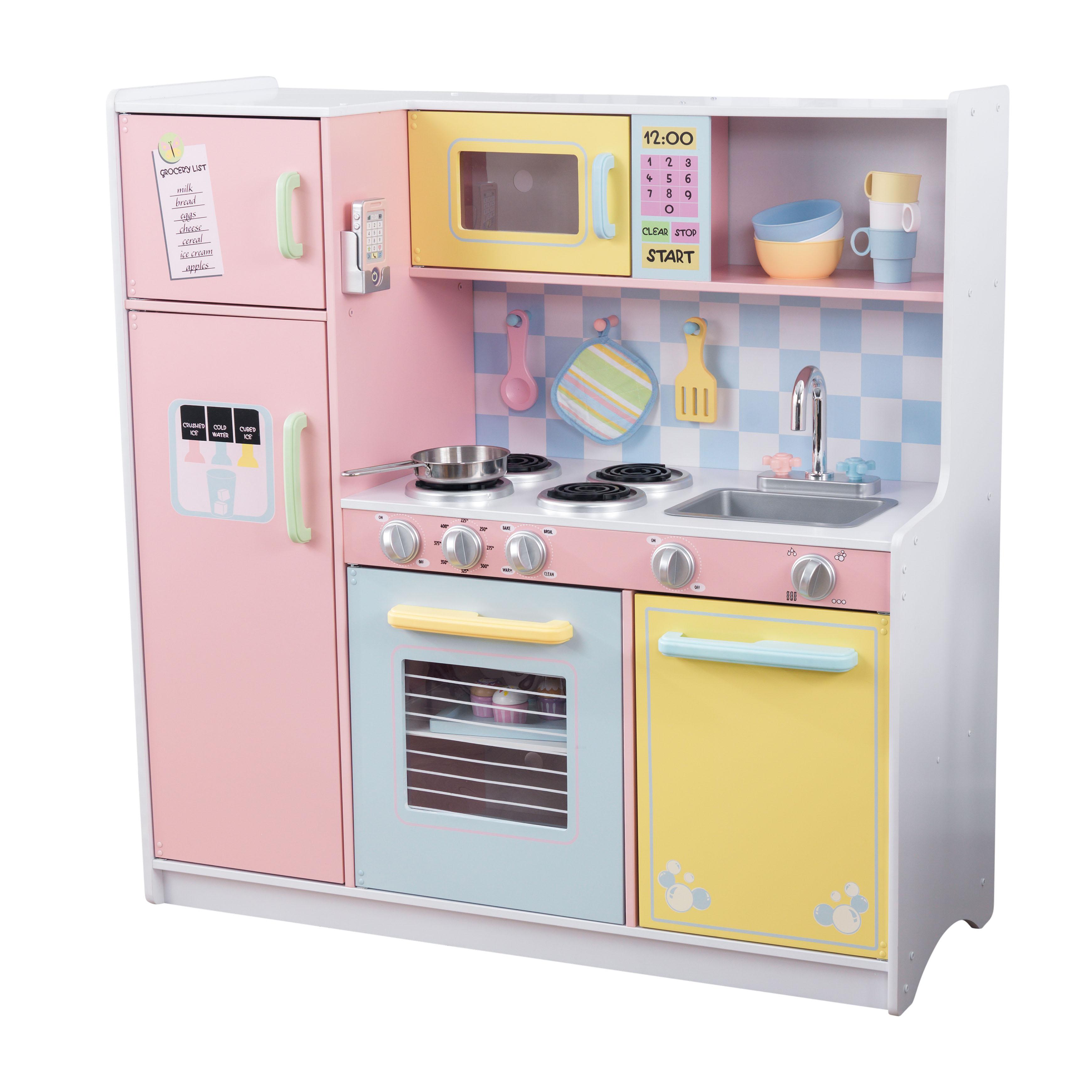 Голяма детска дървена кухня в пастелни цветове от KidKraft - Bellamiestore