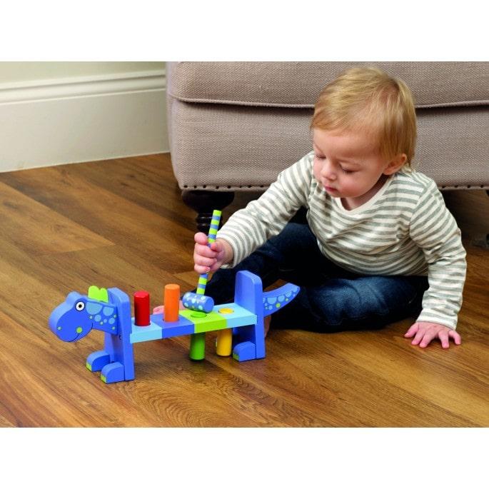 Играчка с чукче - Динозавър от Orange Tree Toys - бебешка играчка - bellamiestore